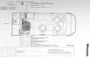 Grundriss mit Wasserinstallation