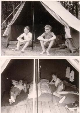Mit Hans Schreyegg im Zeltlager 1962