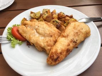 Fischteller (Salat schon verzehrt)