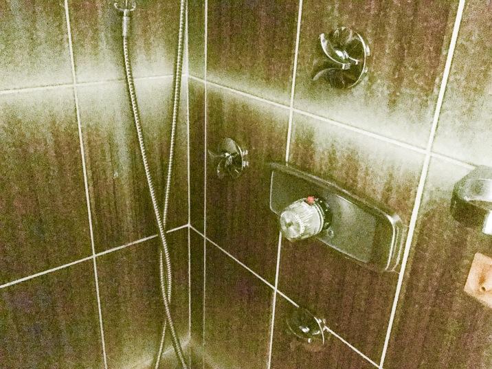 Regler in der Dusche