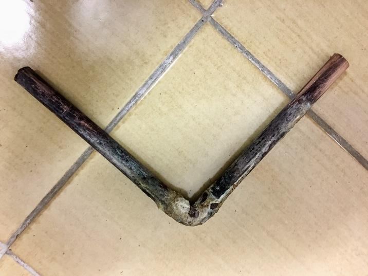 Übeltäter: Kupferrohrknie