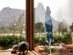Blick aus dem Fenster Richtung Kofel