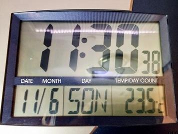 23,5°C Innentemperatur an der Küche