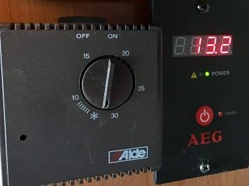 ... bei 13,2 V für den Kühlschrank