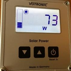 Votronic-Amzeigedisülay: 73 W Solarleistung