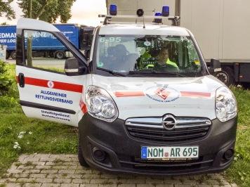 Einsatzwagen des Unfallfolgedienstes