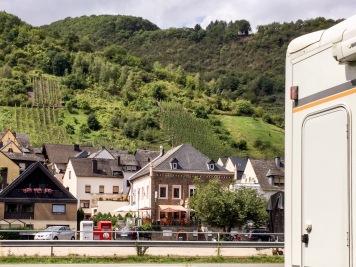 In Sichtweite: Die Terrasse des Italieners ...