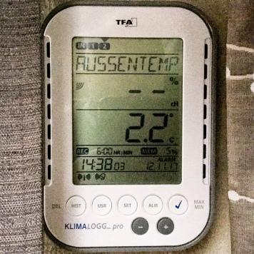 Außentemperatur leicht über 0°C
