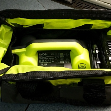 Gut verstaut in kompakter Werkzeugtasche