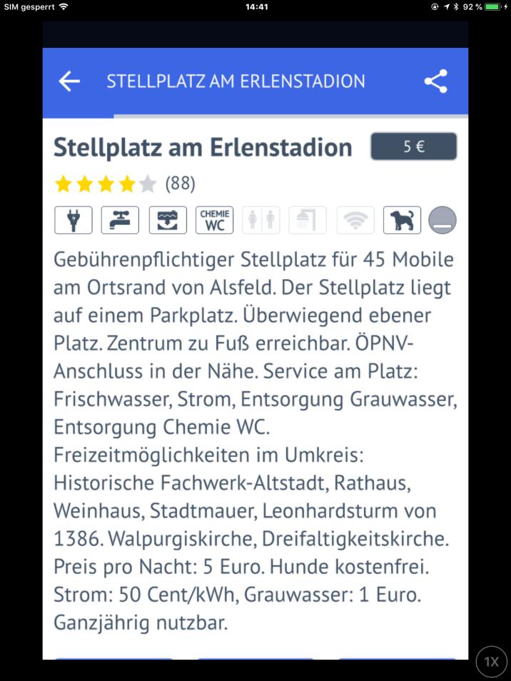 Quelle: Promobil Stellplatz-Radar